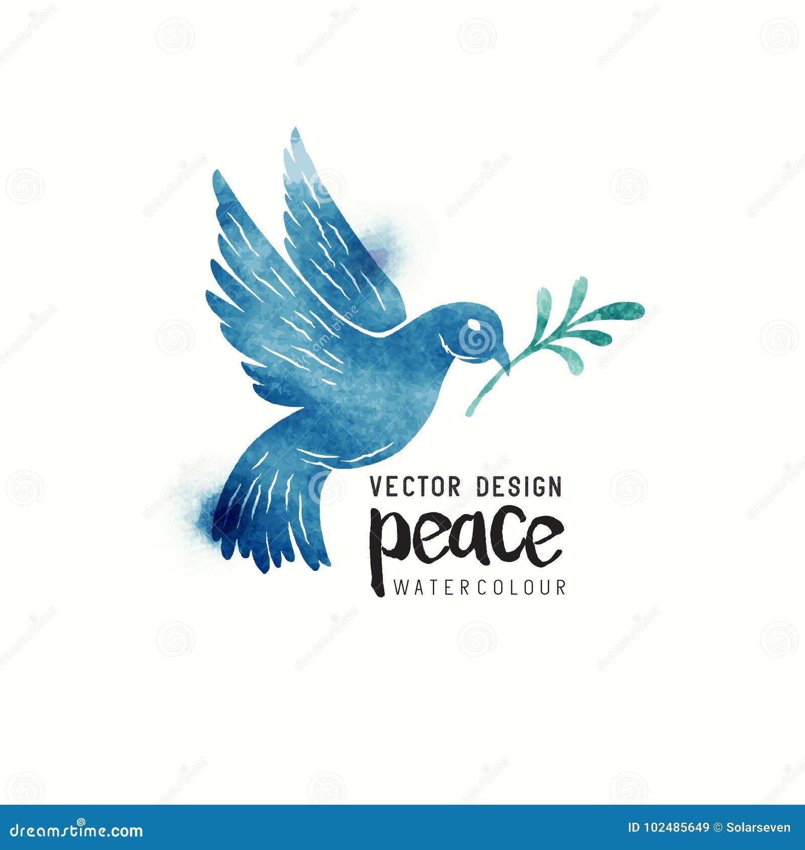 Peace Dove Watercolor Stock Illustration Illustration Of Symbol