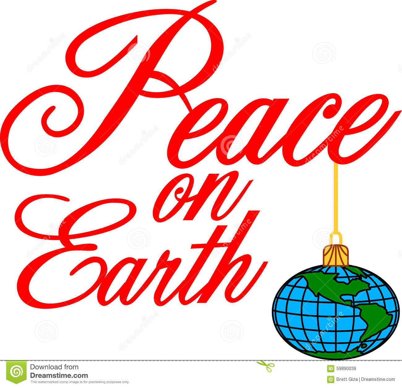free christmas peace on earth clipart - photo #29