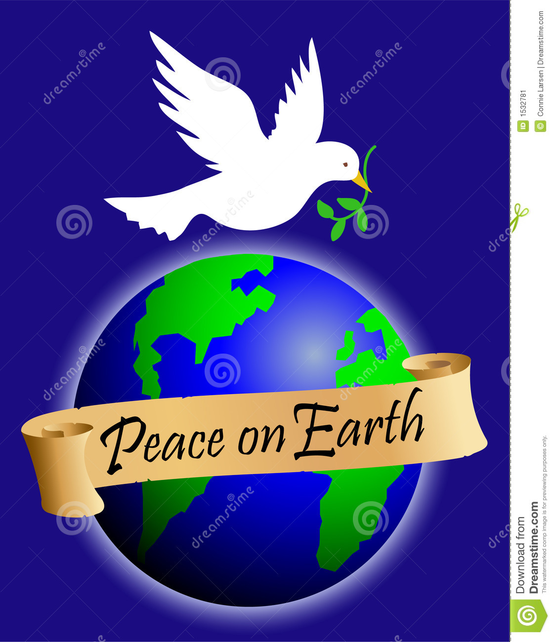 free christmas peace on earth clipart - photo #12