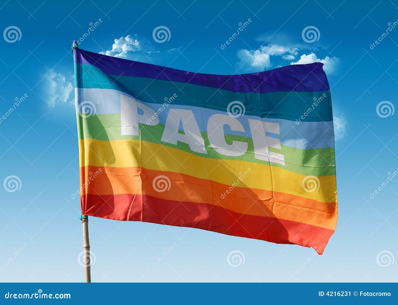 Peace Flag Stock Image Image Of Orange Harmony Agreement 4216231