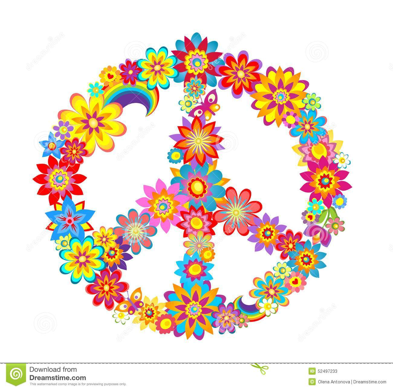Peace Flower Symbol Stock Vector Image