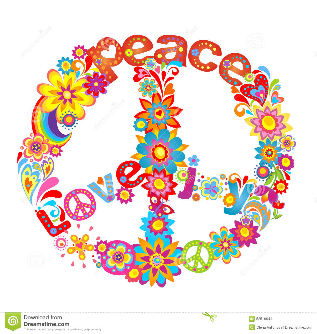 Peace flower symbol stock vector illustration of happiness 52519644 peace flower symbol biocorpaavc Image collections