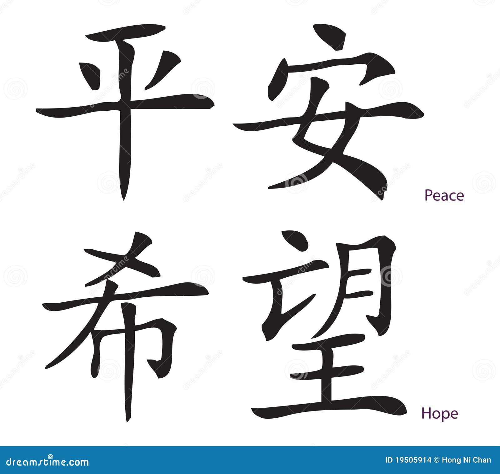 Easy Chinese Symbols Hope