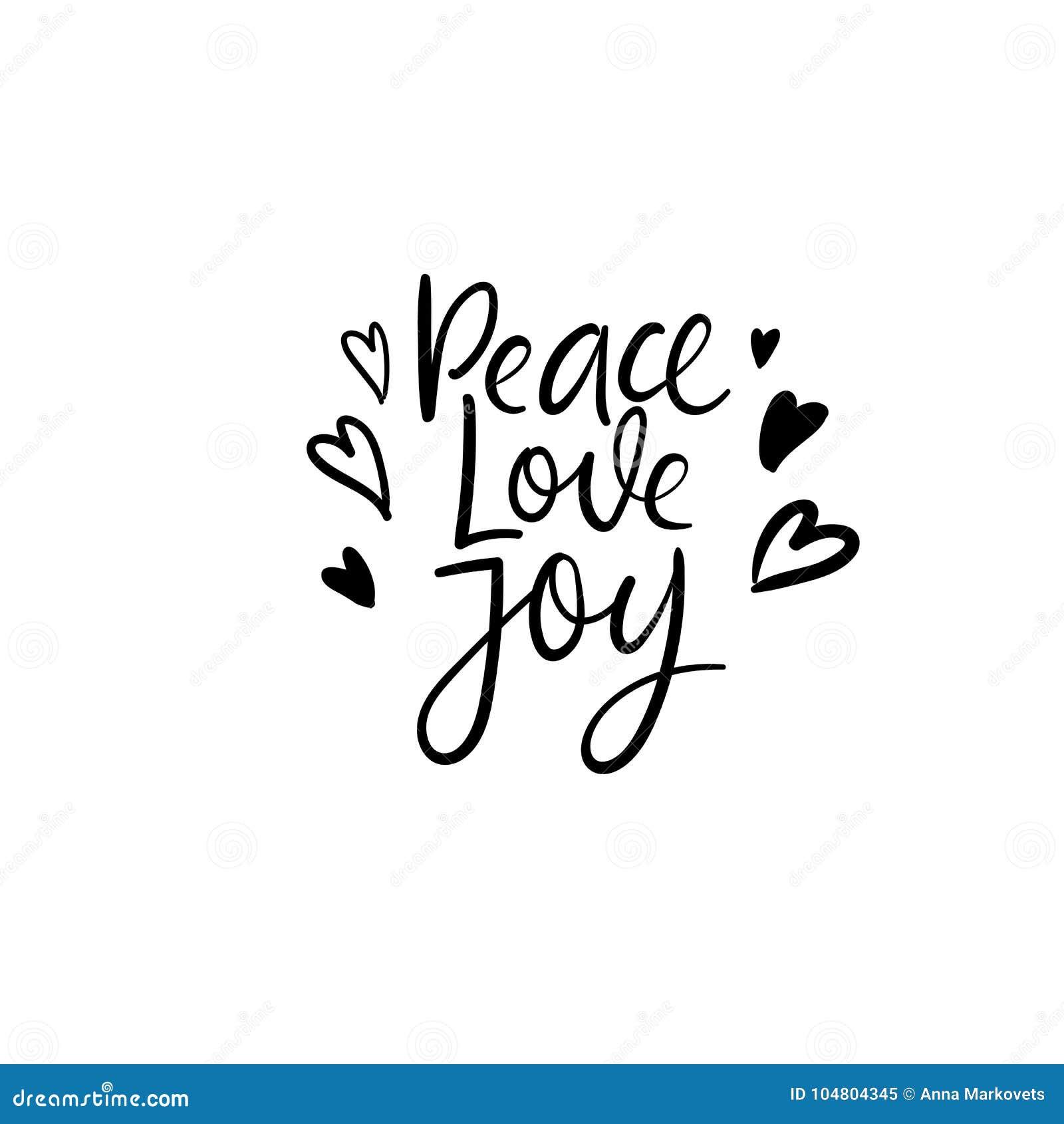 Peace love joy christmas and happy new year cards modern peace love joy christmas and happy new year cards modern calligraphy hand lettering m4hsunfo