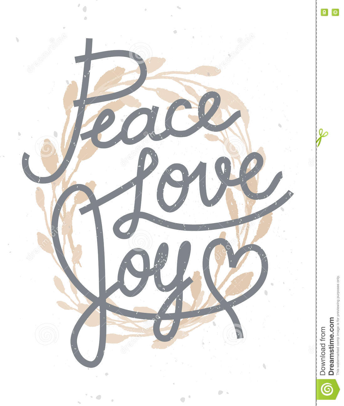 Peace Love Joy Quotes Inspiration Peace Love Joy Christmas Lettering Quote With A Golden Wreath