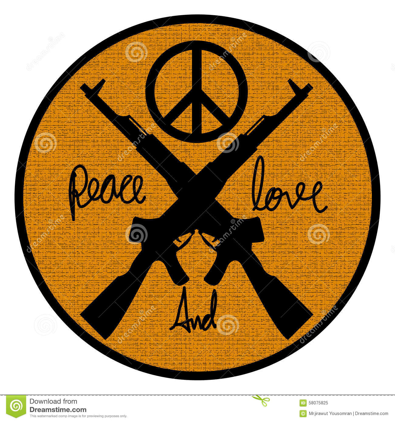 Peace And Love Logo Symbol Stock Illustration Illustration Of Wars