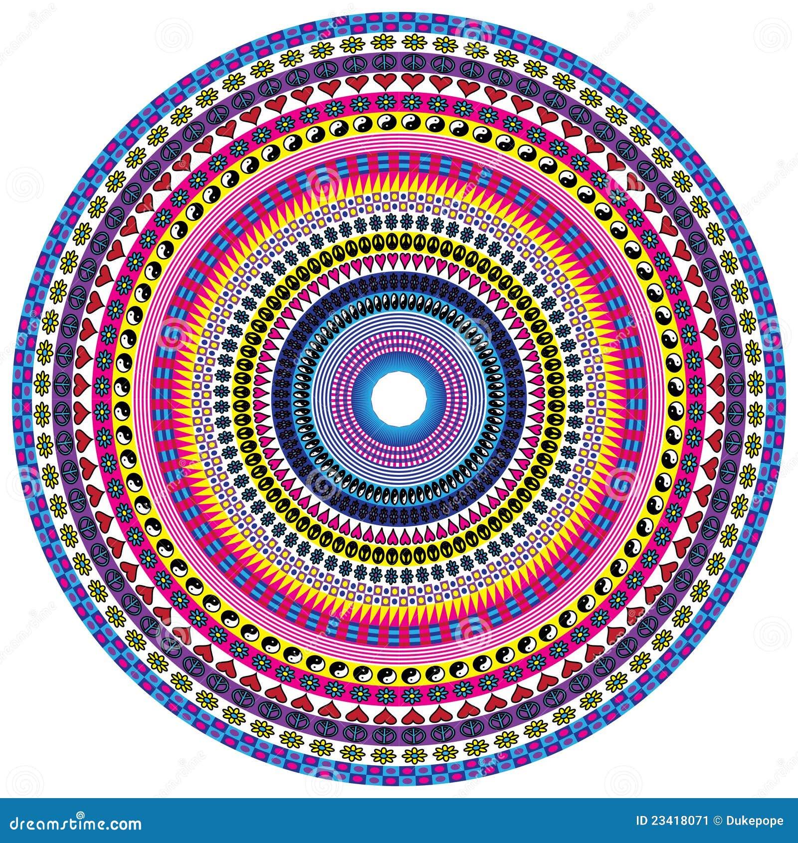 peace and love mandala stock vector image of peace Yin Yang Mandala Coloring Pages Yin Yang Lotus Mandala
