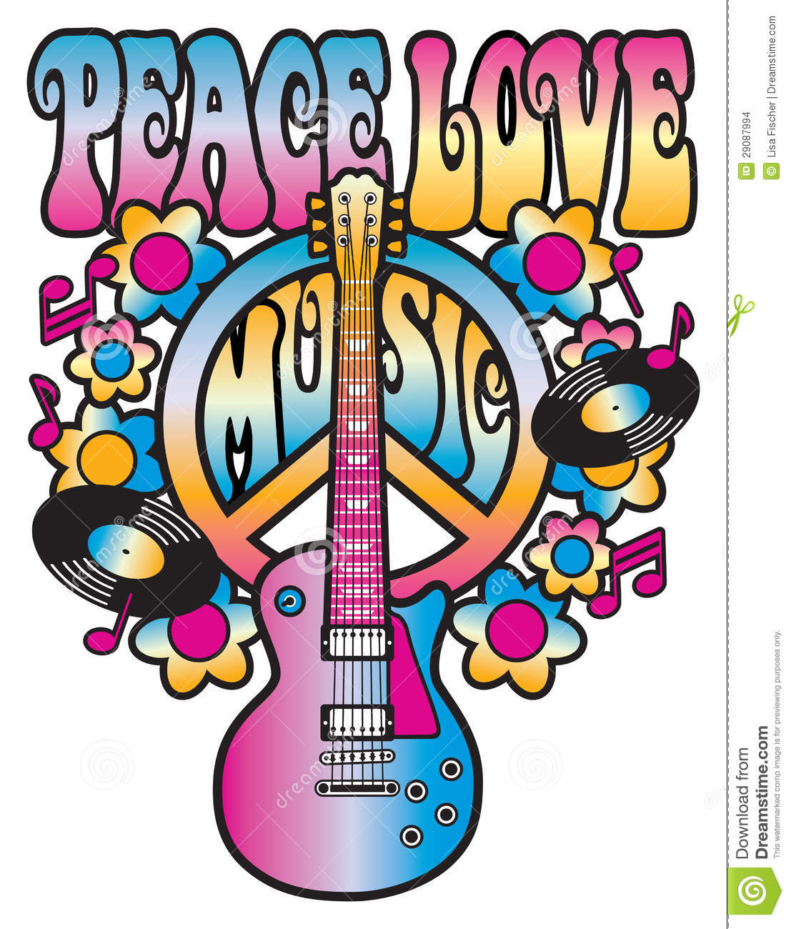 Music: Peace Love And Music Stock Images