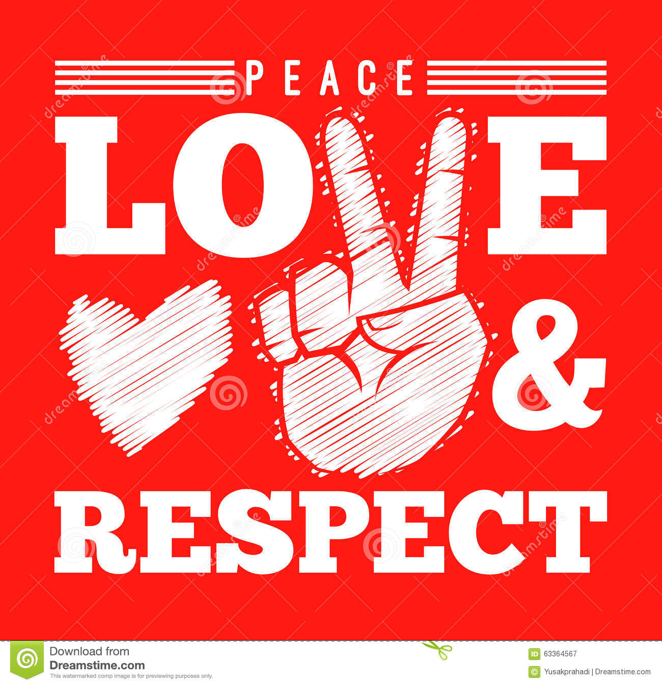 Peace love and respect symbol stock vector illustration of icon peace love and respect symbol biocorpaavc Choice Image