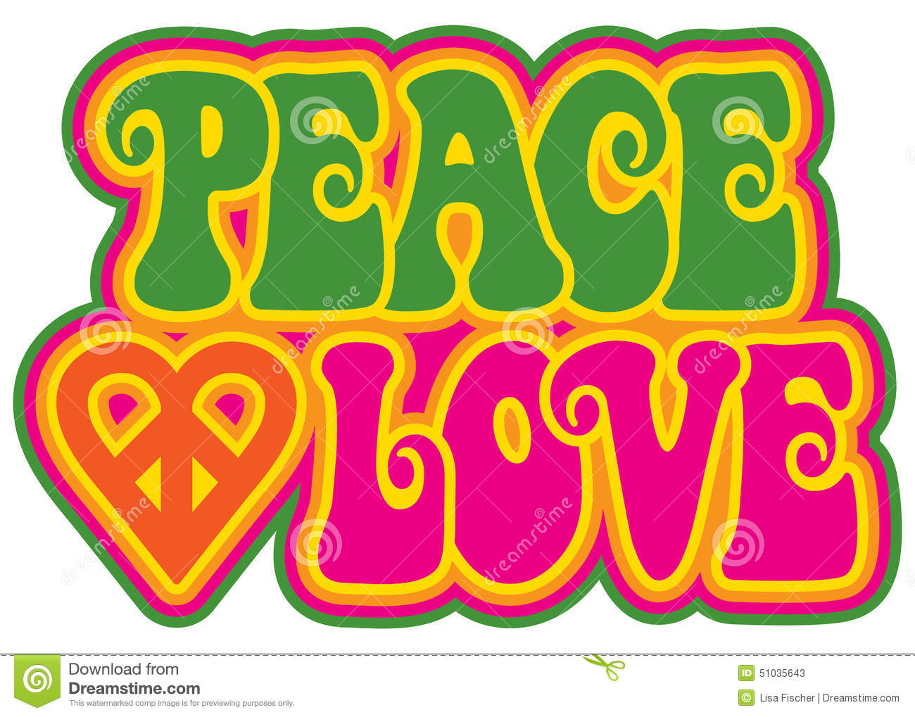 Peace and love stock vector illustration of style seventies 51035643 peace and love biocorpaavc Image collections