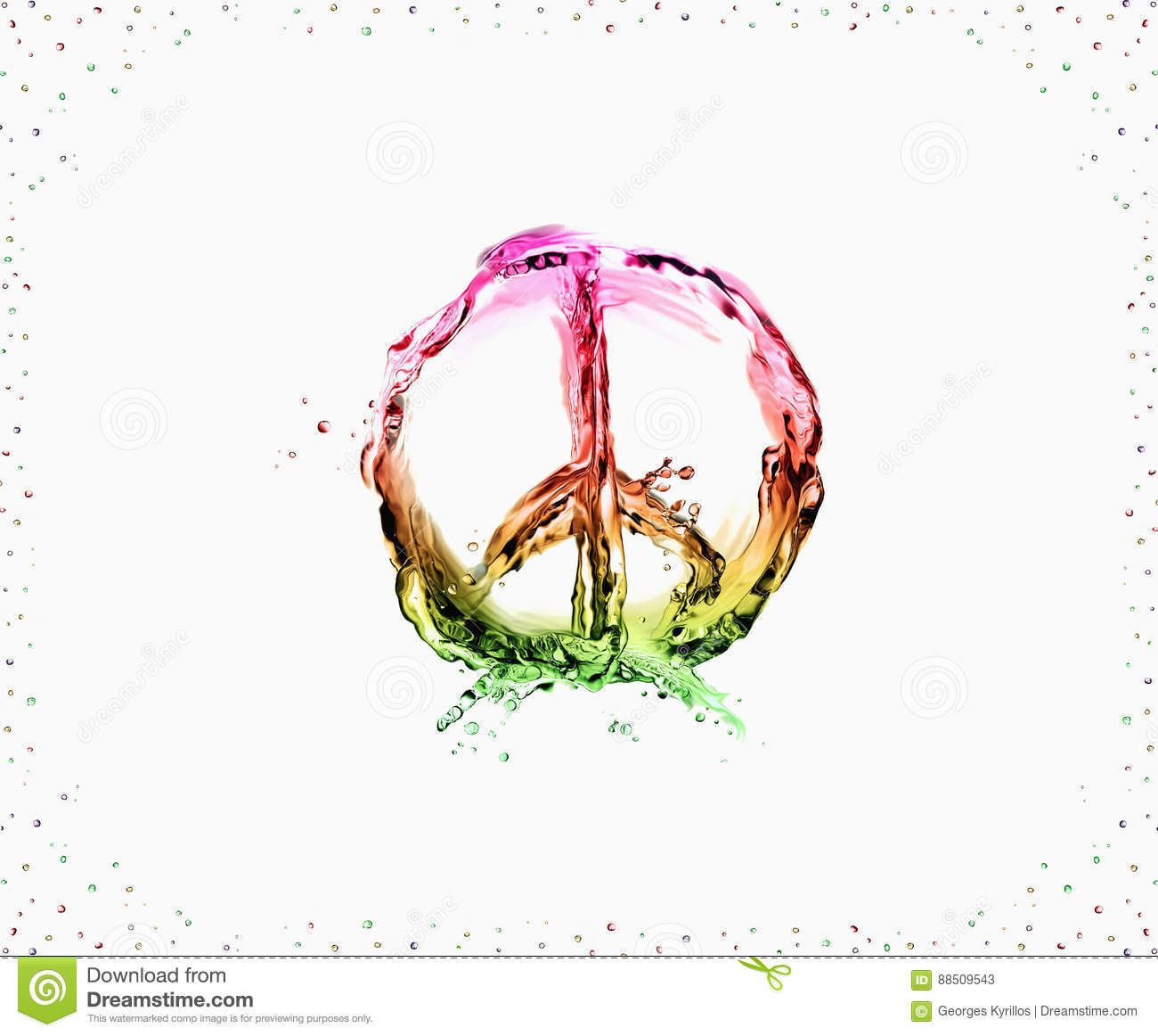 Peace And Love Stock Image Image Of Made Circular Seventies