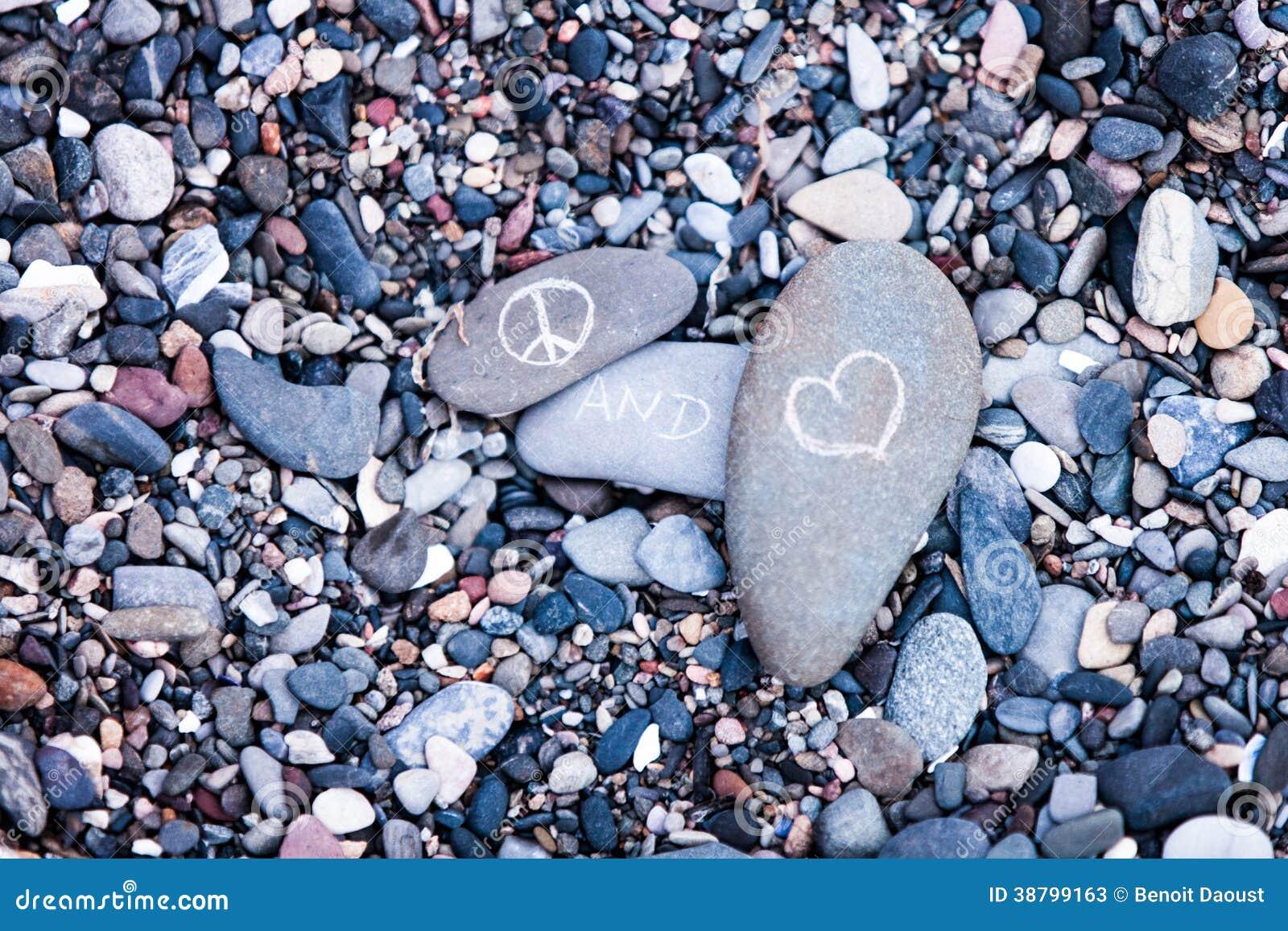 Peace and love symbols on rocks stock image image of style peace and love symbols on rocks biocorpaavc Choice Image