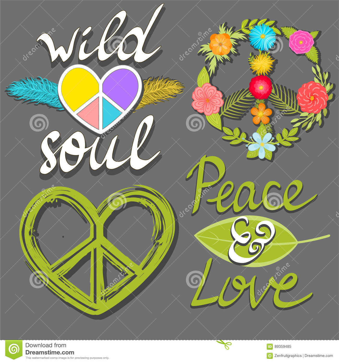 Peace and love wild soul words flower peace symbol and heart peace and love wild soul words flower peace symbol and heart peace sign biocorpaavc