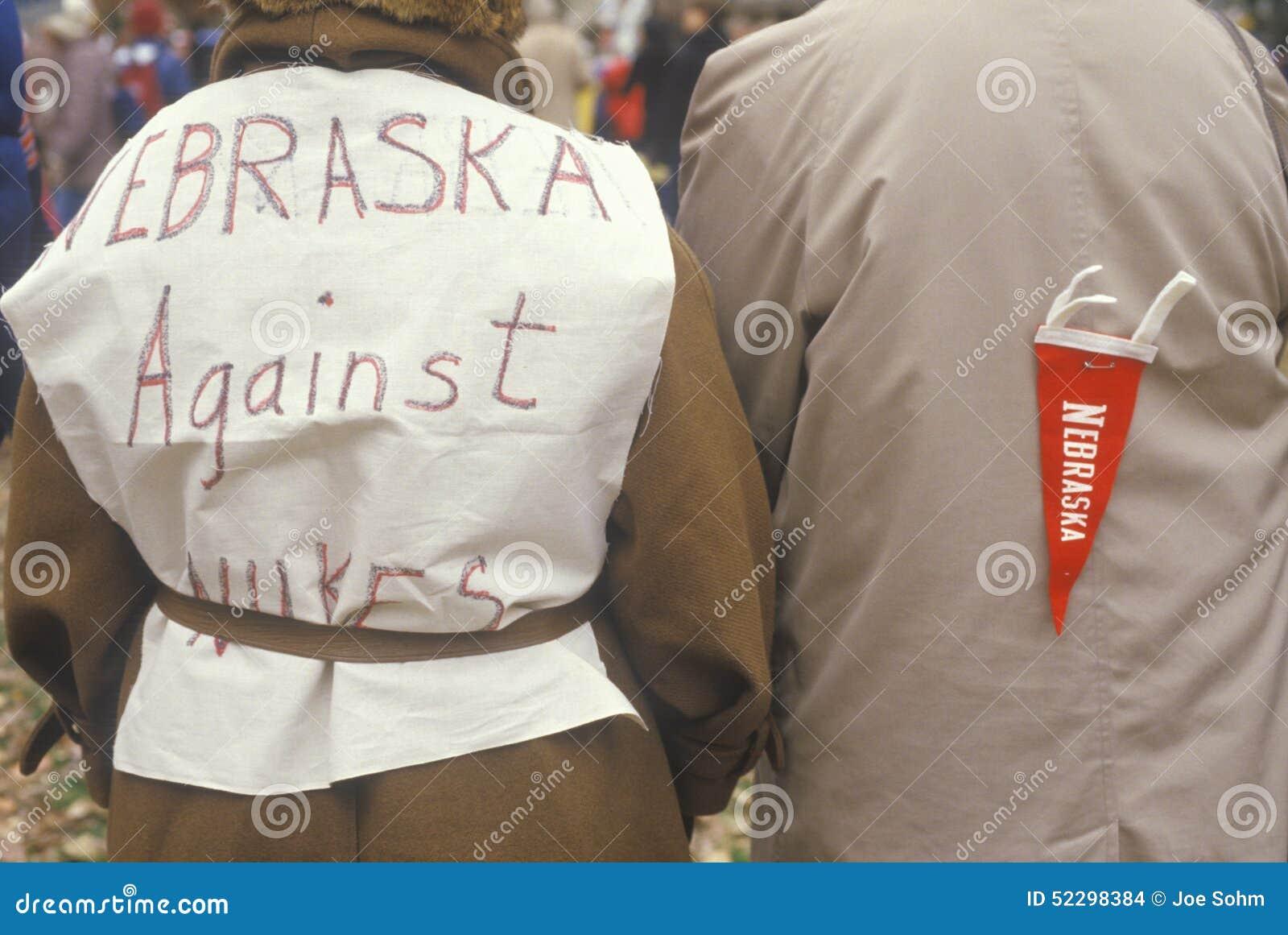 Peace Marchers Wearing Anti-war Slogans, Washington D C