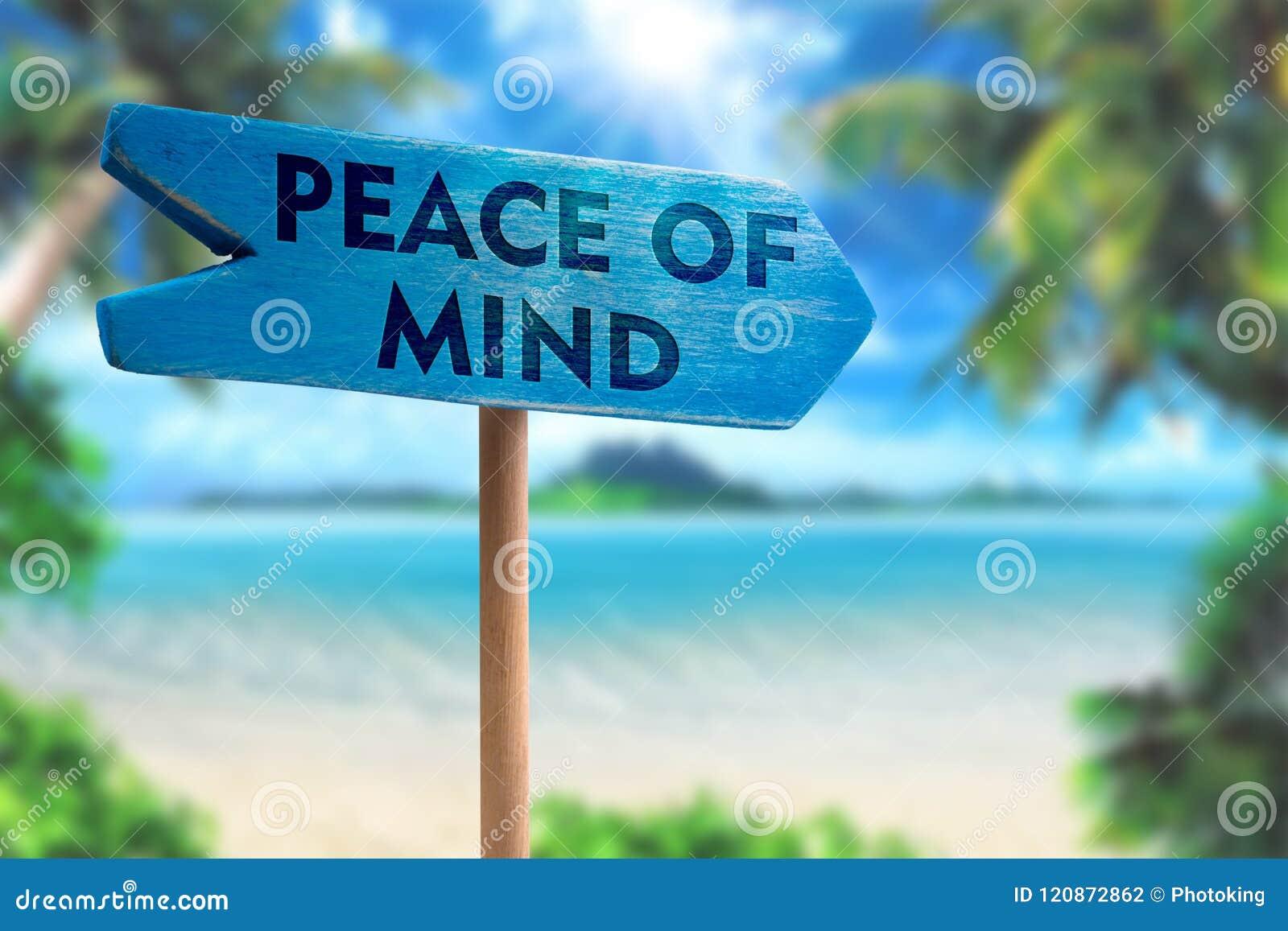 Peace of mind sign board arrow