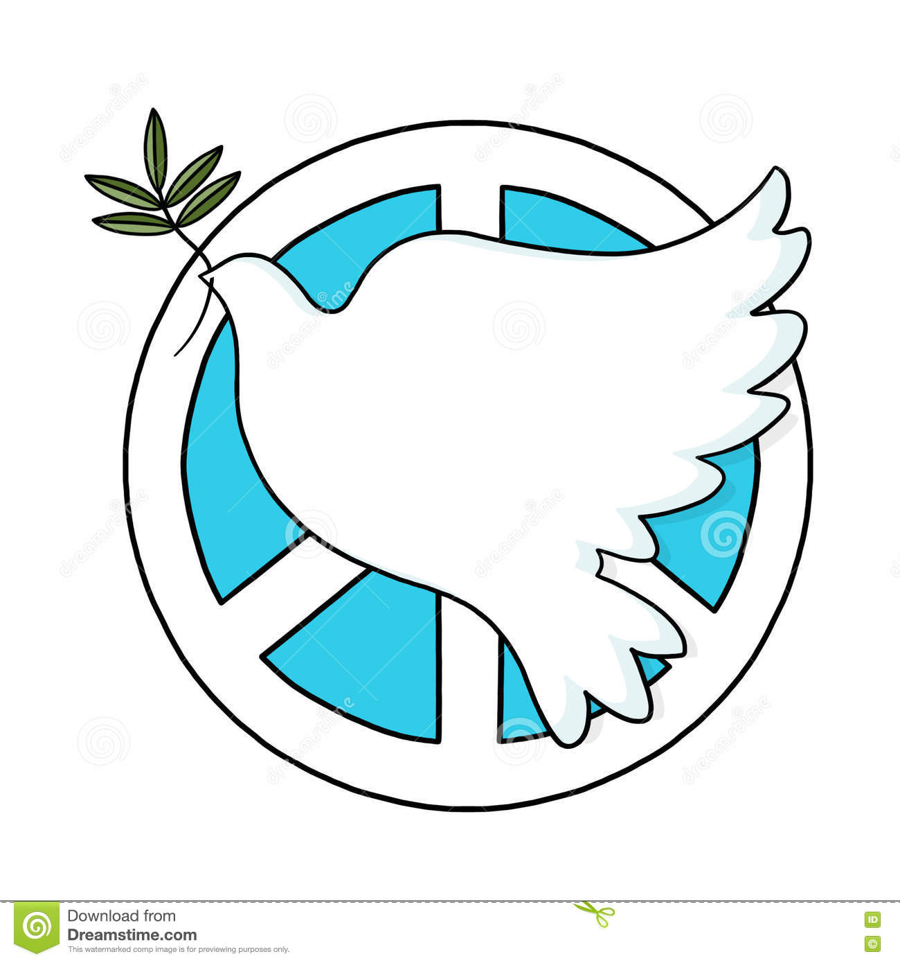 Peace Sign And Dove Stock Illustration Illustration Of Graphic