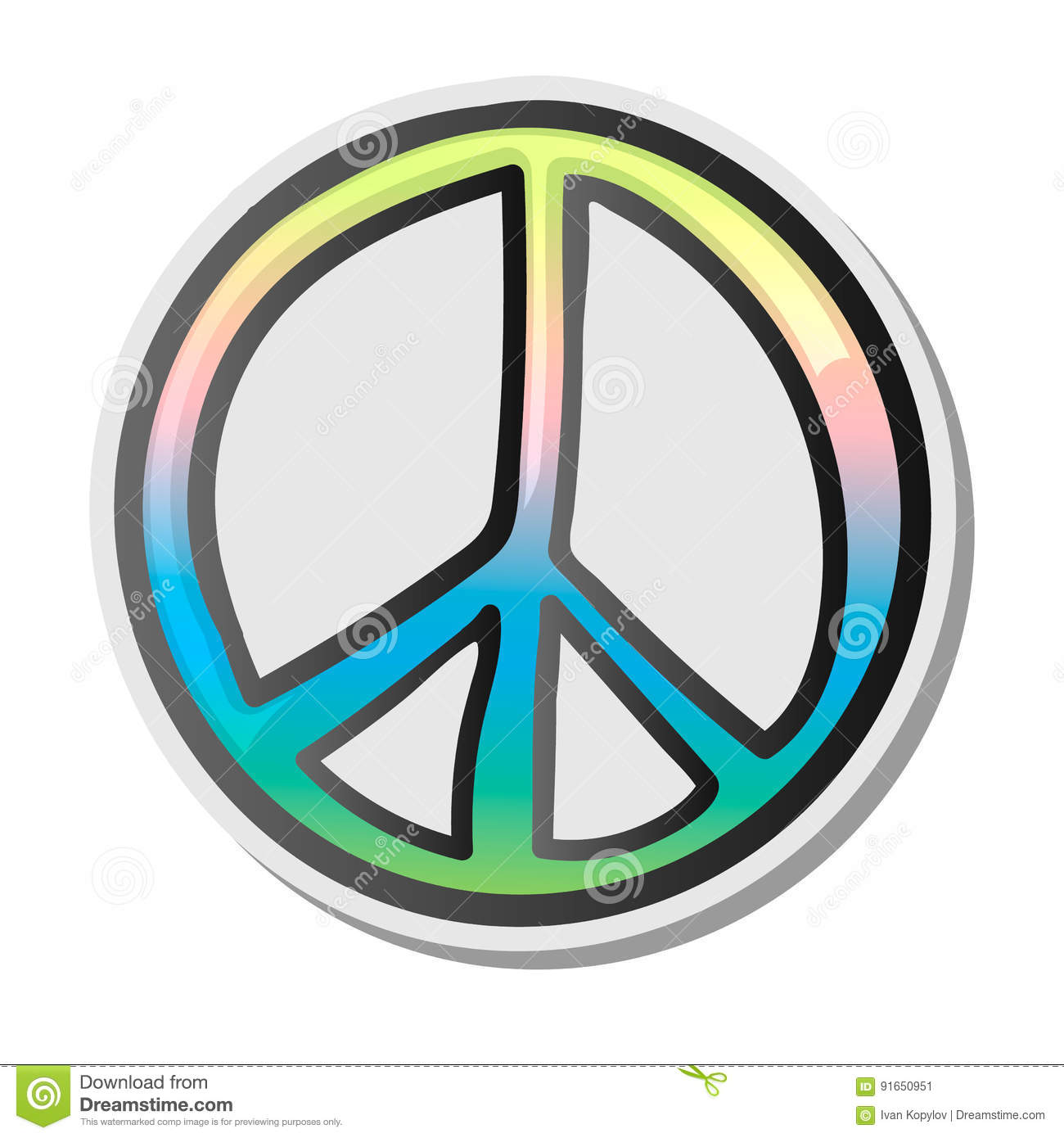 Peace Sign, Emoji, Sticker, Emoticon, Vector Illustration ...