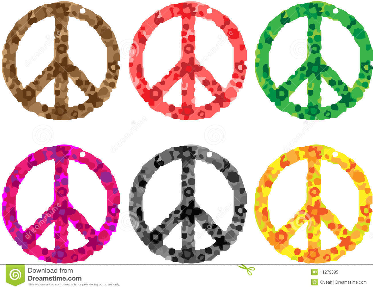 Peace Sign Flower Power Stock Vector Illustration Of Sign 11273095
