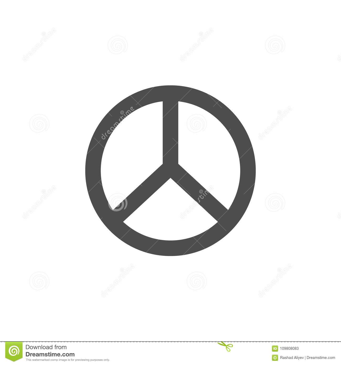 Peace Sign Icon Elements Of Web Icon Premium Quality Graphic