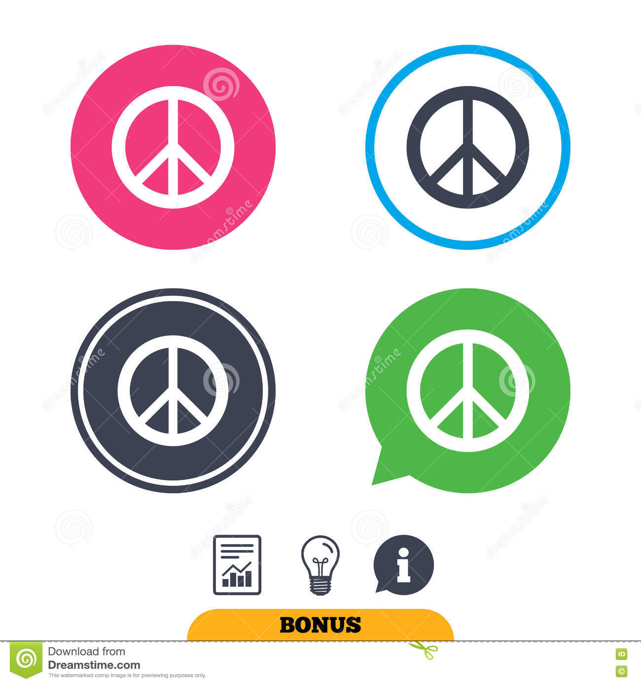 Peace Sign Icon  Hope Symbol  Stock Vector - Illustration of