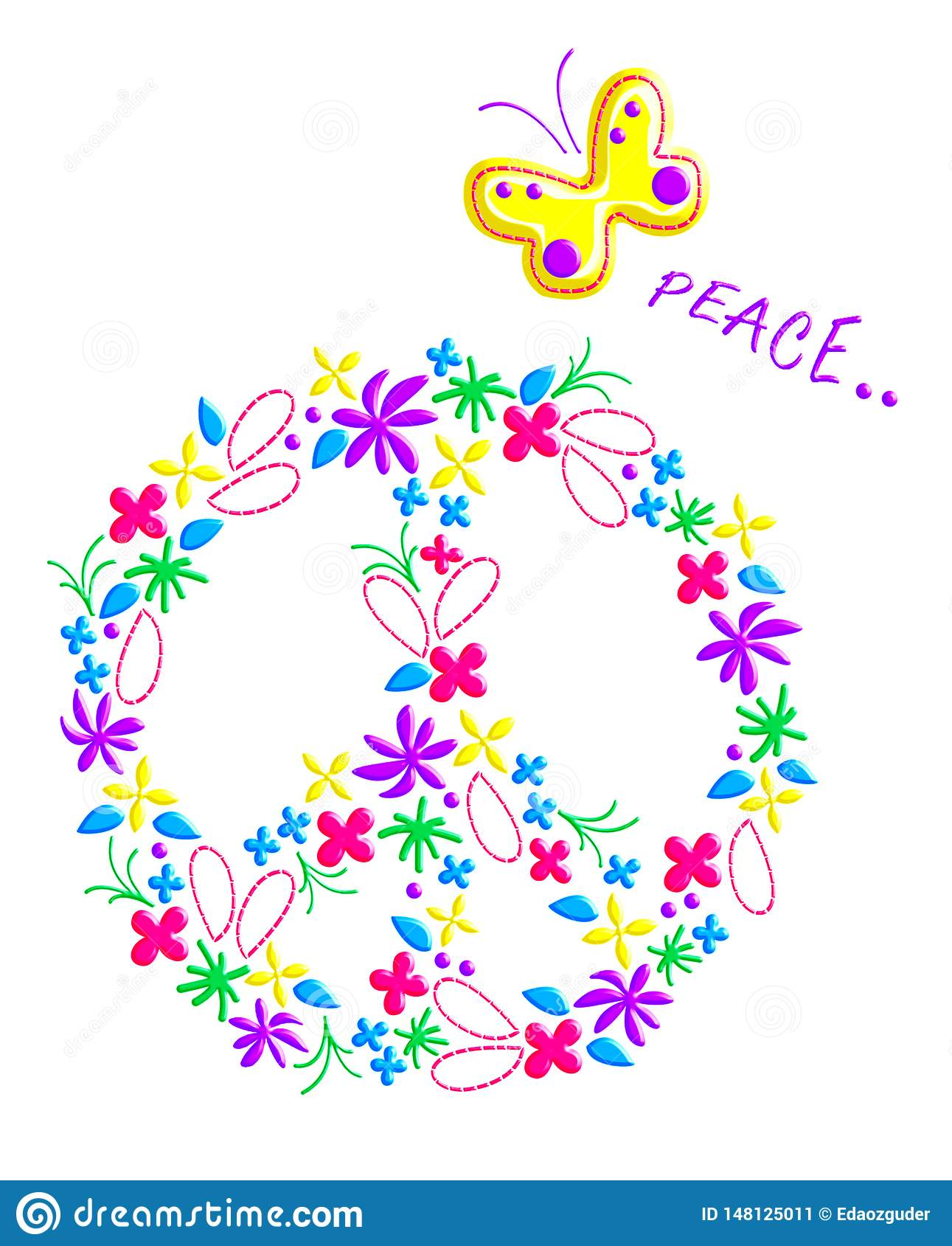 Peace sign pattern, graphics for kids, t-shirt print