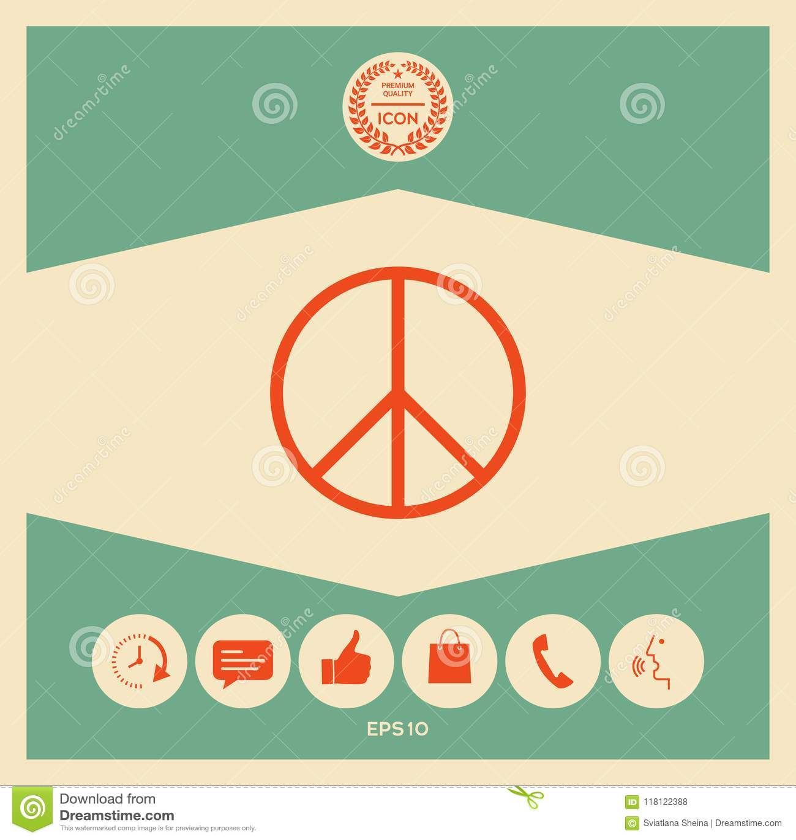 Peace Sign Symbol Stock Vector Illustration Of Antiwar 118122388