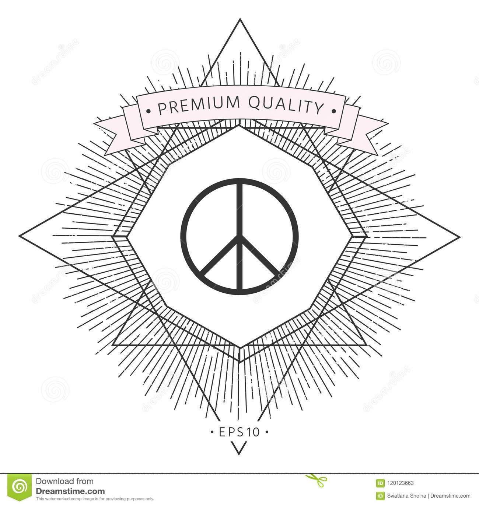 Peace Sign Symbol Stock Vector Illustration Of Illustration 120123663