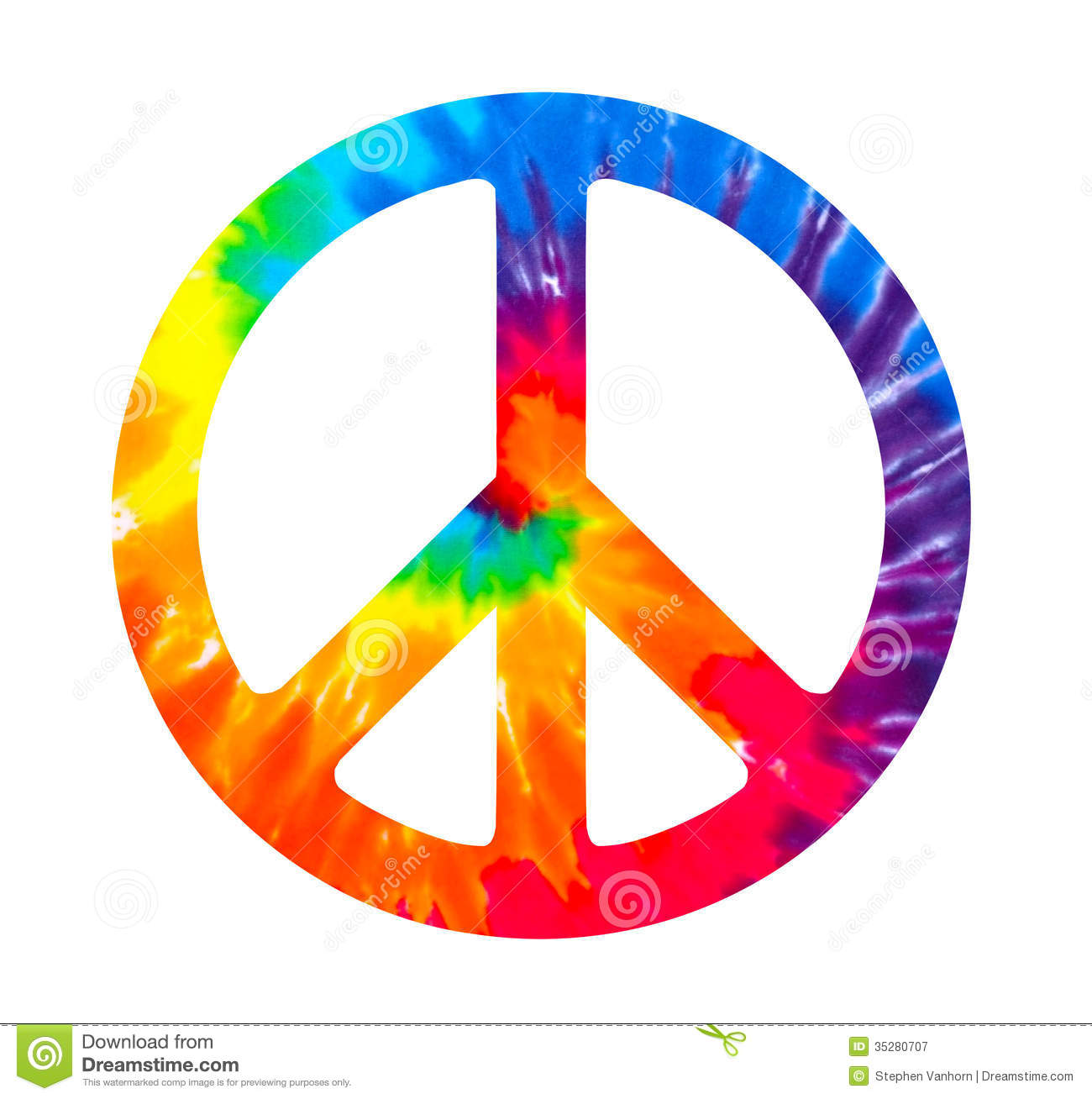 Peace Sign Stock Illustration Illustration Of Dye Colorful 35280707
