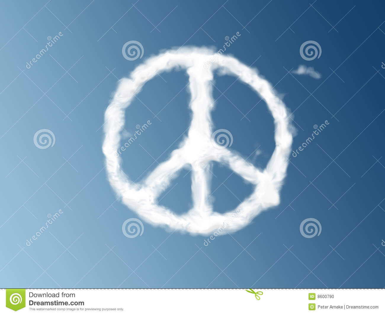 Peace symbol as a cloud