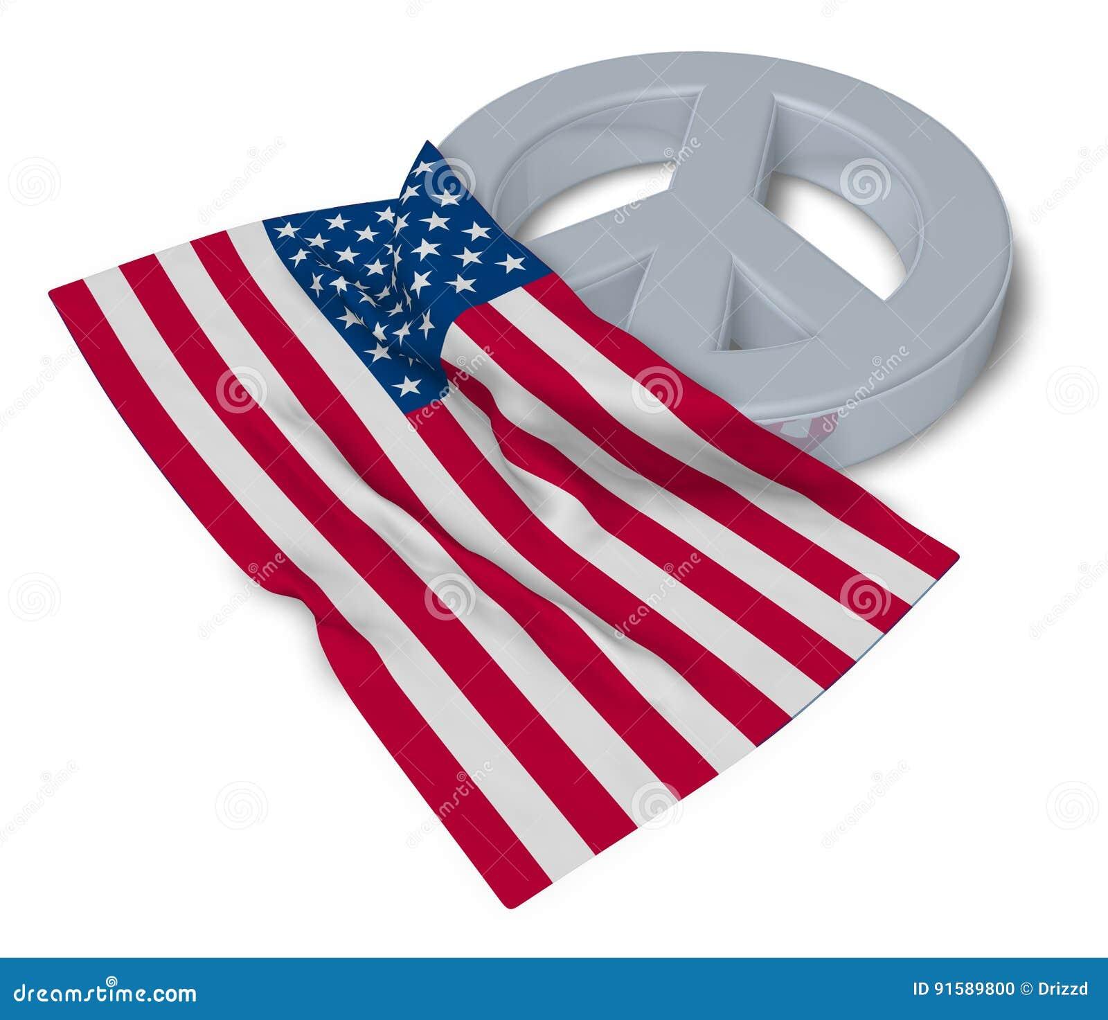 Peace symbol and flag of the usa stock illustration illustration peace symbol and flag of the usa biocorpaavc