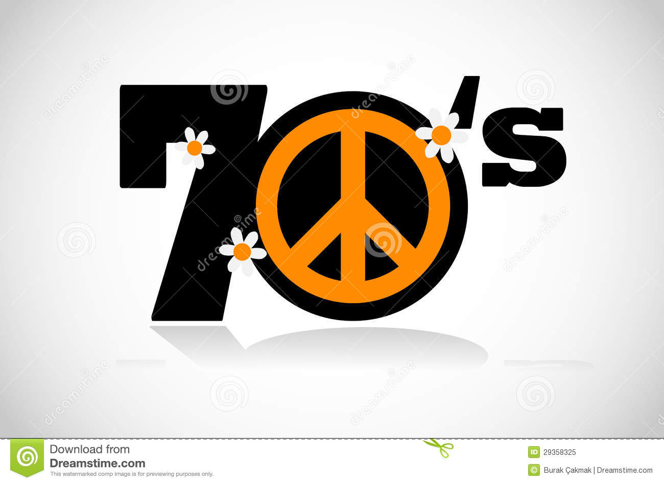 Peace Symbol Seventies Royalty Free Stock Photo - Image: 29358325