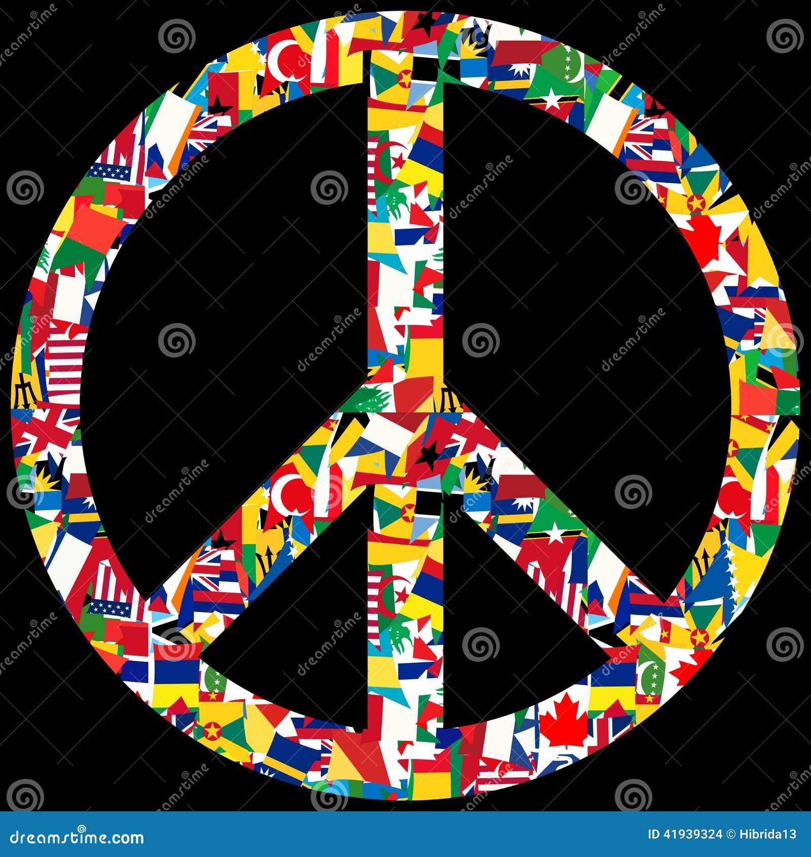 World peace symbol stock illustration illustration of world peace symbol with world flags stock images buycottarizona Gallery