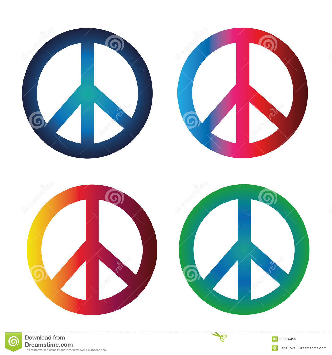 Peace Symbols Stock Vector Illustration Of Earth Colorful 36004493