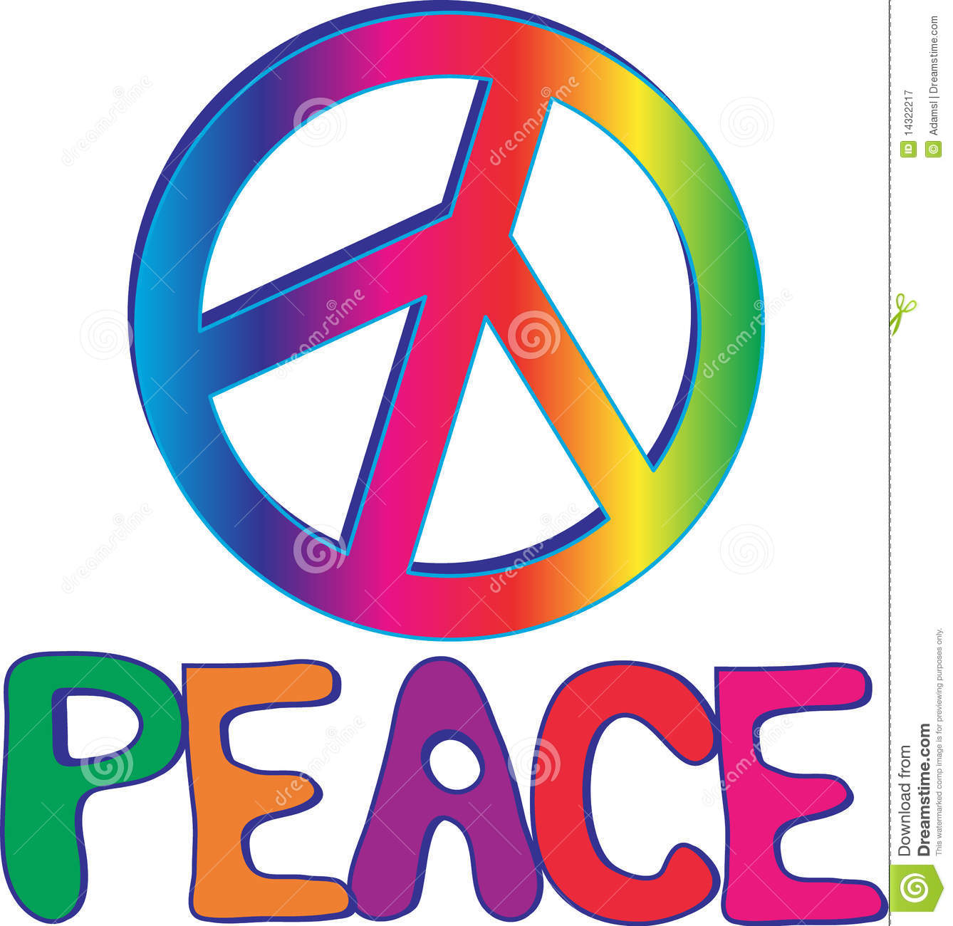 PEACE text and sign stock vector  Illustration of activism - 14322217