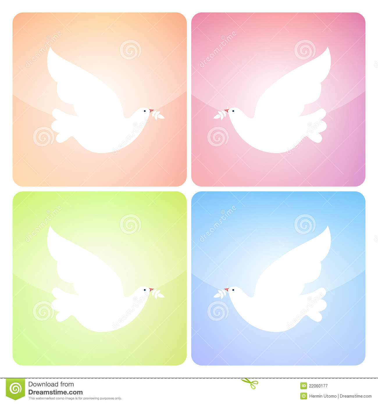 Peaceful Dove Icons Royalty Free Stock Photography Image