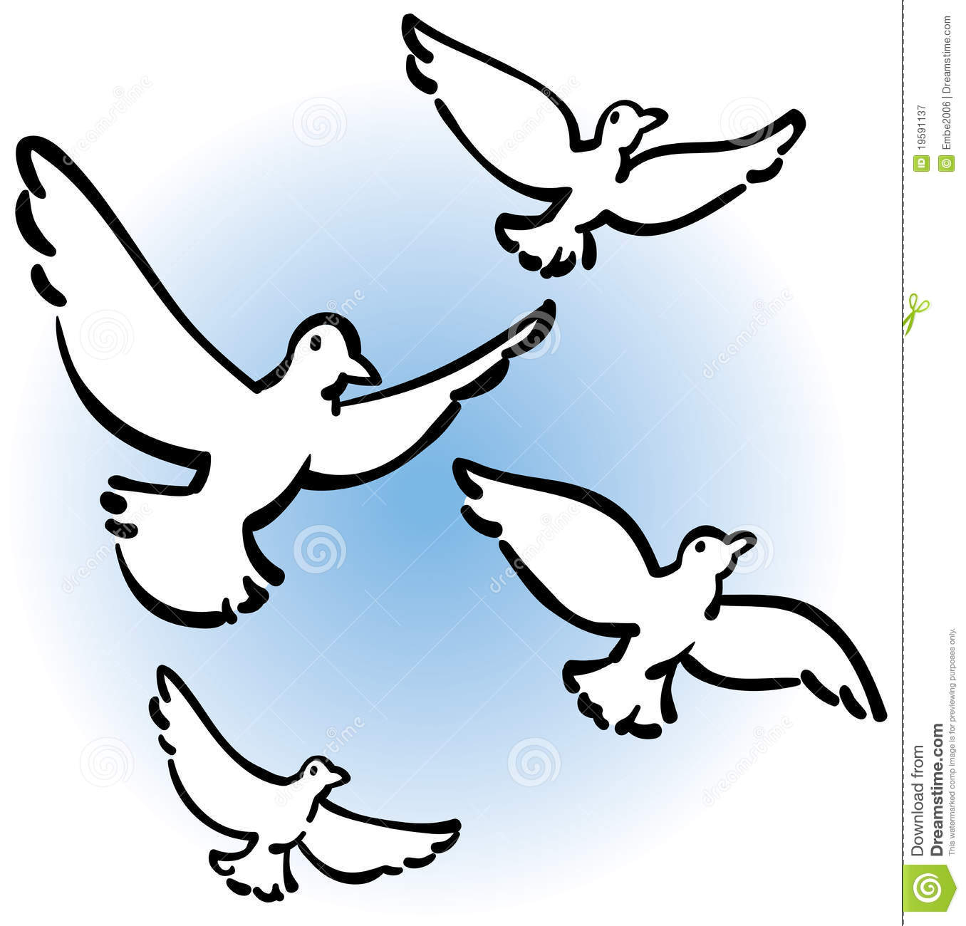 peaceful doves flying stock vector illustration of peace