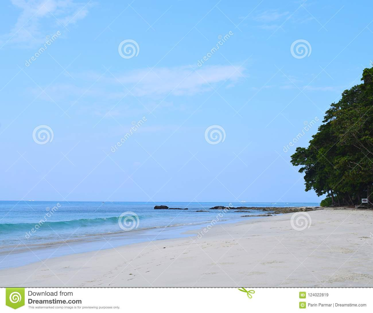 Havelock Island: Peaceful Landscape At Radhanagar Beach, Havelock Island