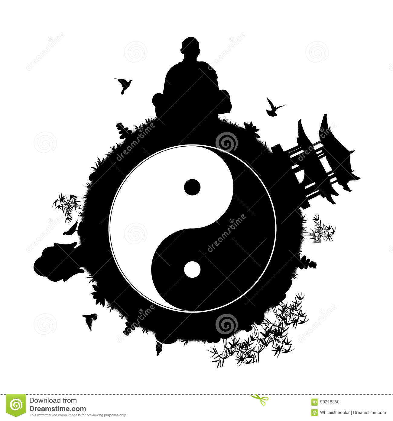 Peaceful planet with yin yang symbol stock illustration peaceful planet with yin yang symbol biocorpaavc Choice Image