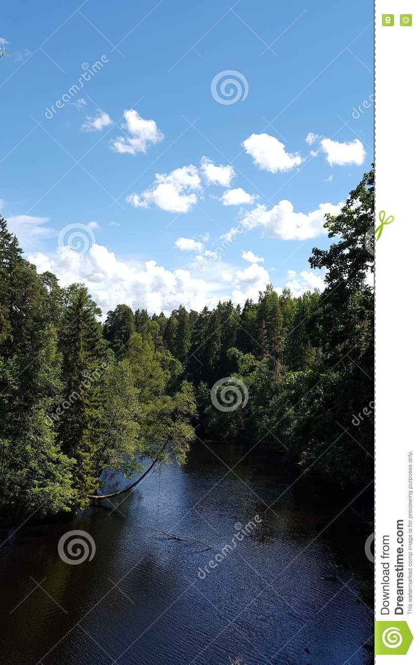 Download Peaceful river stock image. Image of fresh, water, light - 75302959