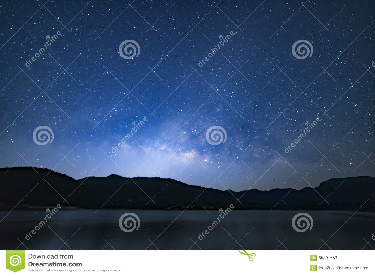 Peaceful starry night sky background