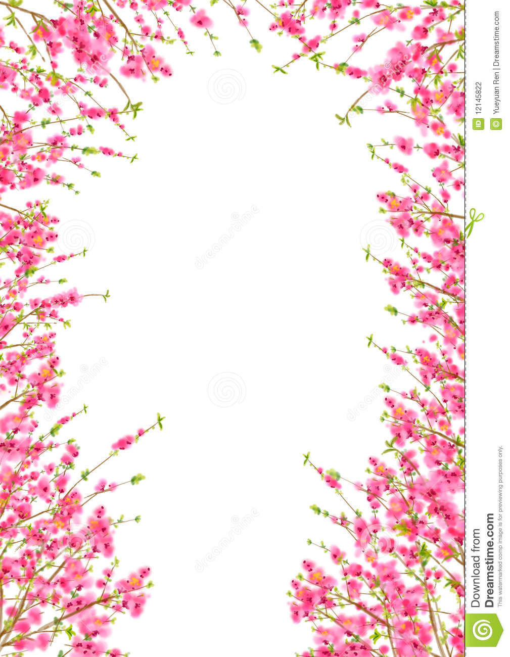 Peach Or Cherry Blossom Background In Spring Time Stock ...