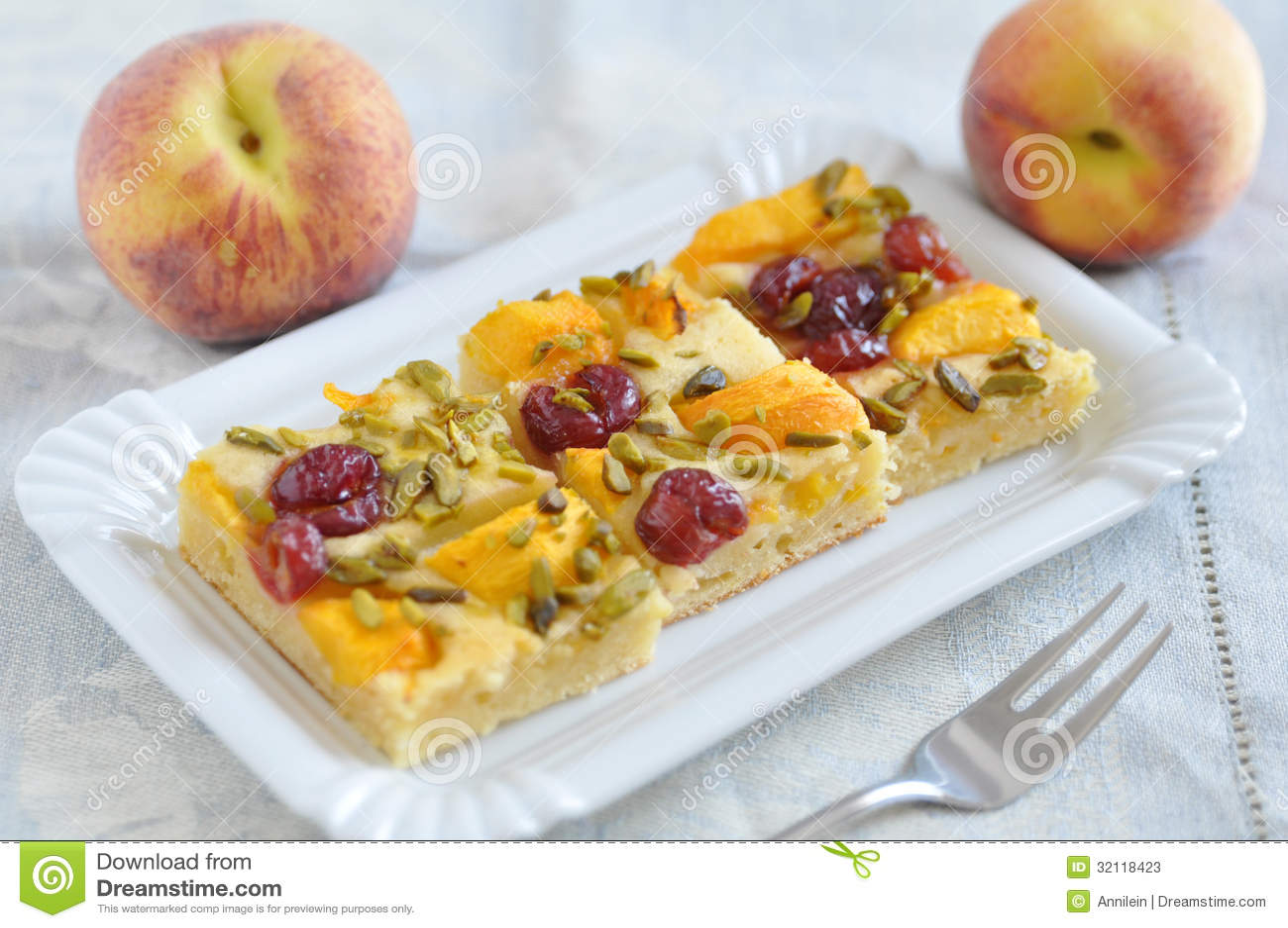 Peach Cherry Pie Stock Photos - Image: 32118423
