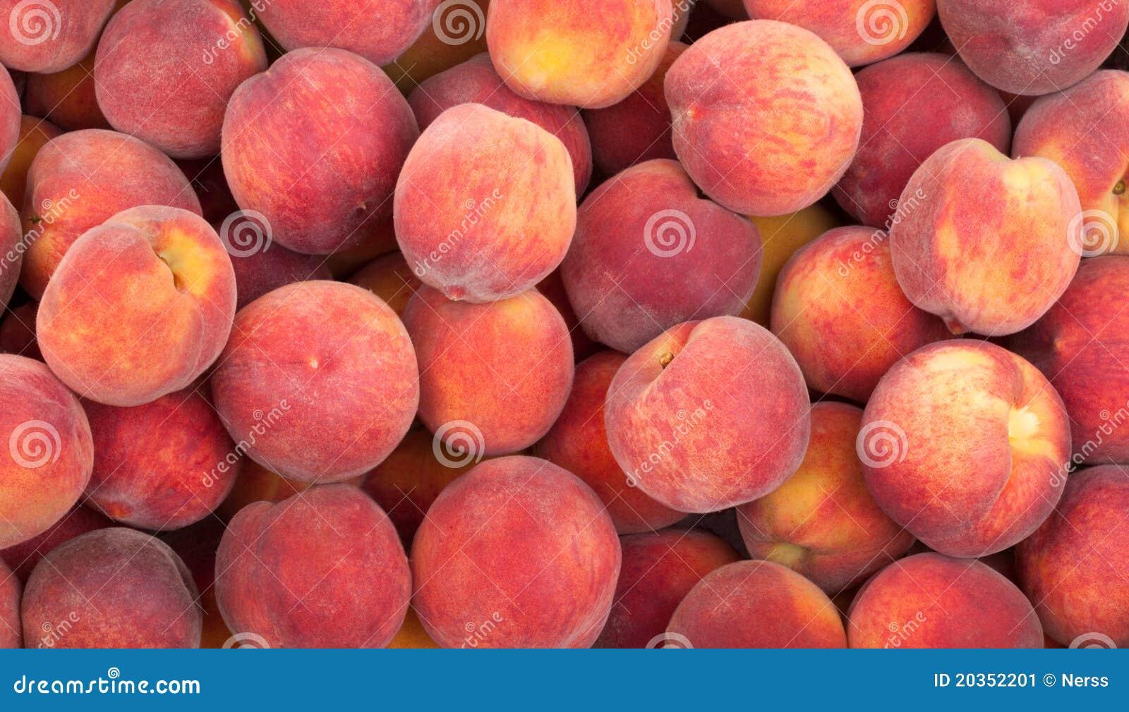 Peach fruits background