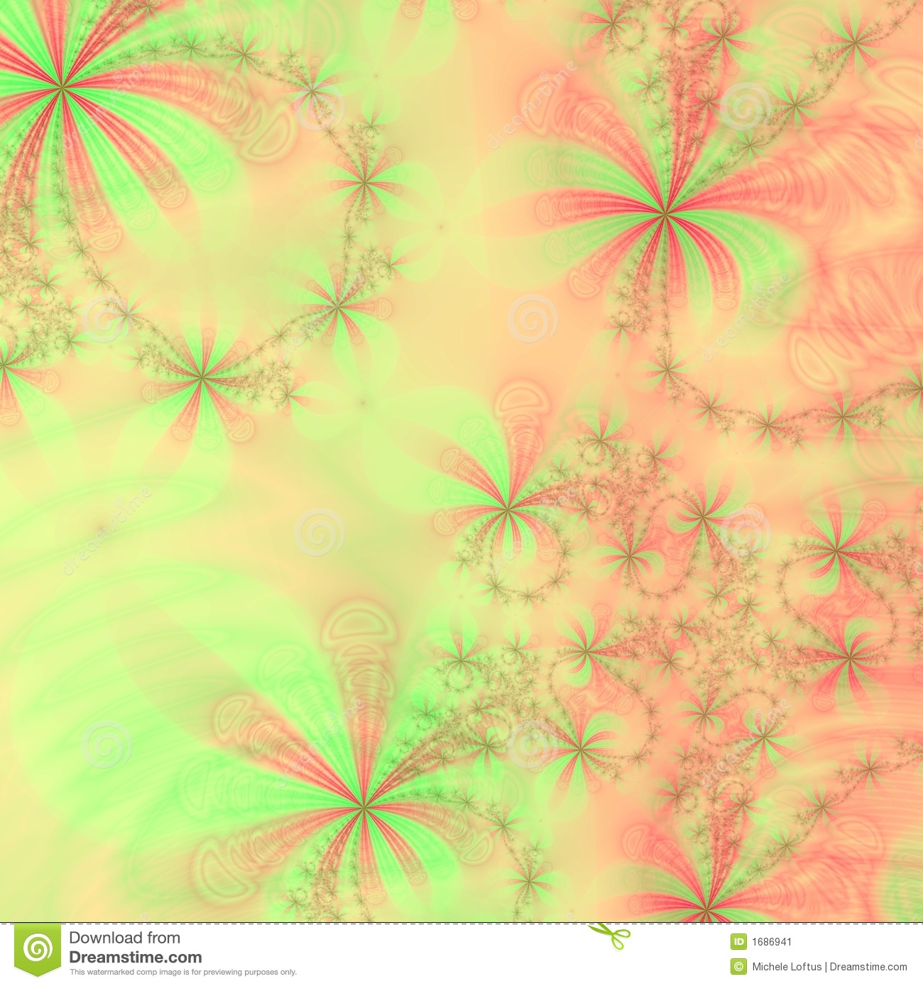 Peach Green And Red Stars BowsAbstract Background Design Template Or Wallpaper