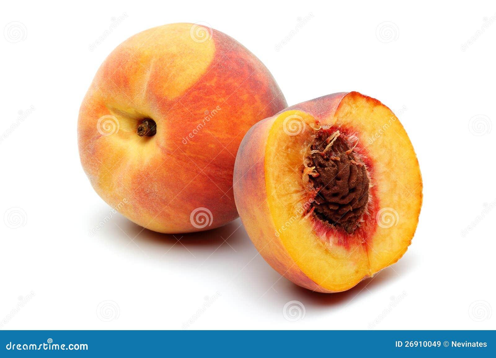 Peach and half peach