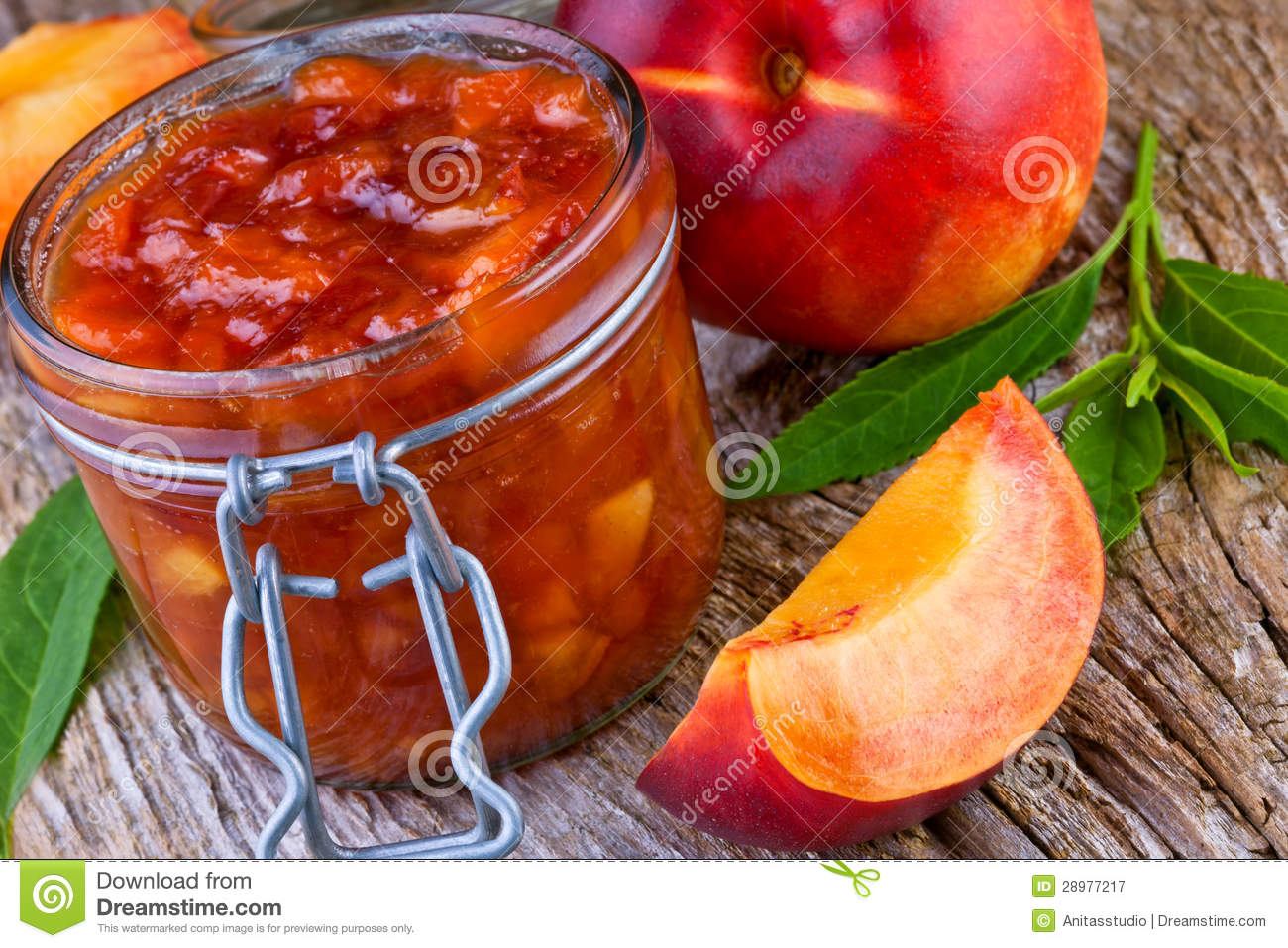 Peach Jam With Fresh Fruits Royalty Free Stock Photography - Image ...