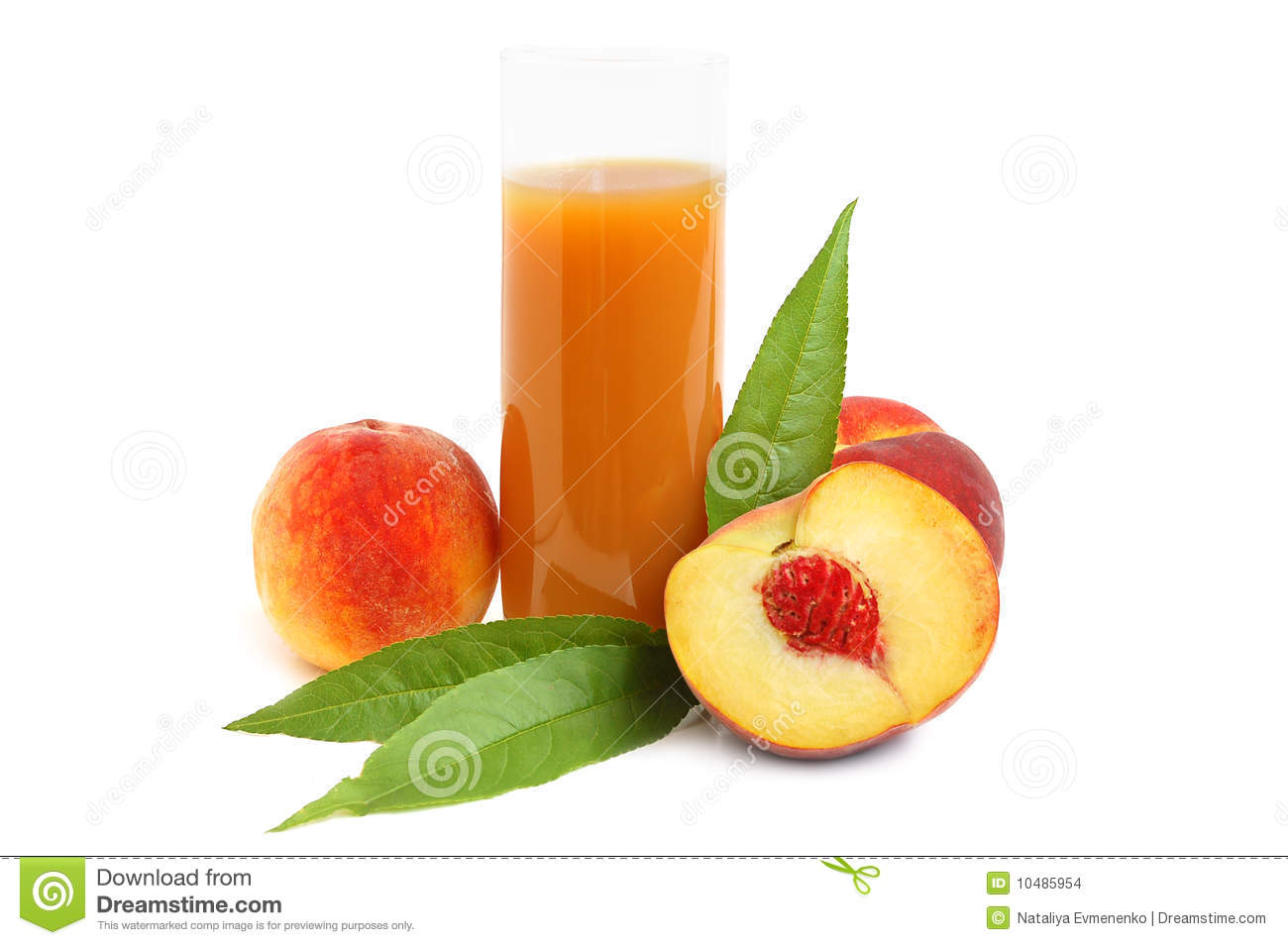 Peach Juice Stock Images - Image: 10485954