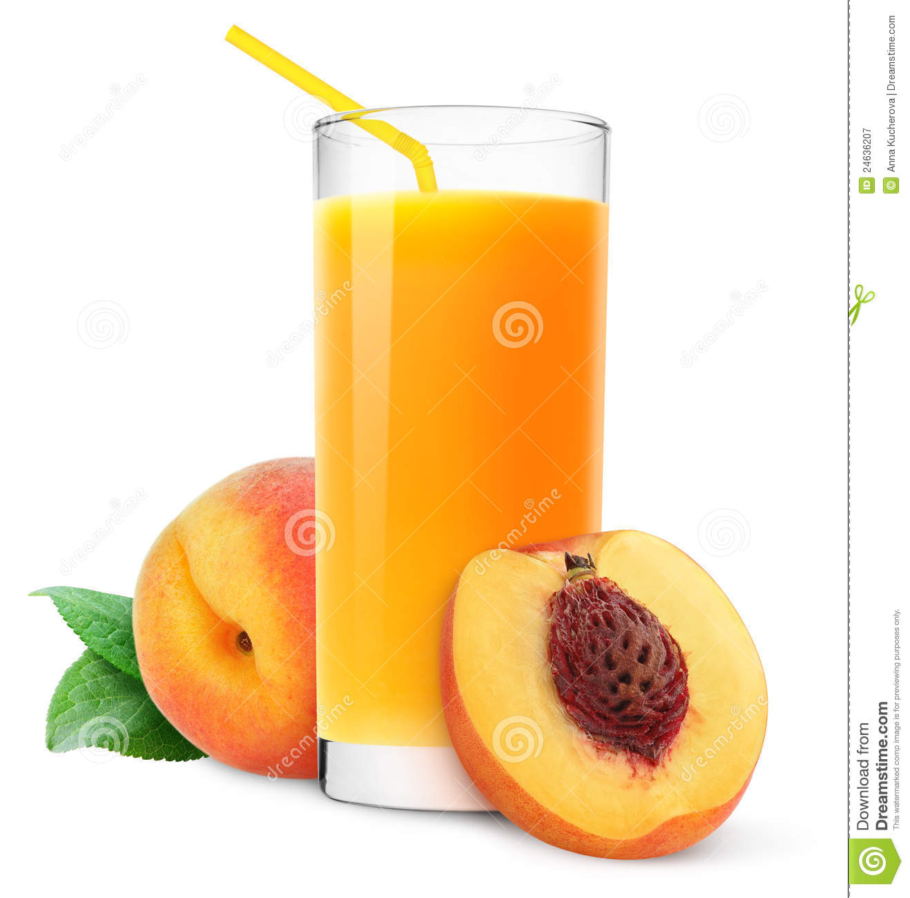 Peach Juice Royalty Free Stock Photography - Image: 24636207