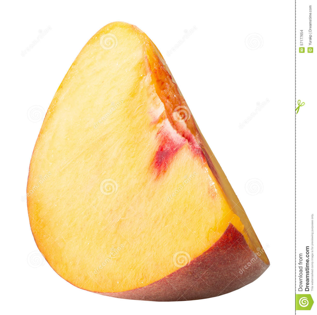 Peach Slice Isolated On The White Background Stock Photo ...