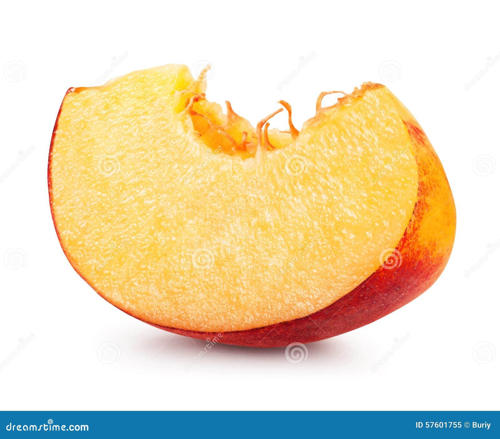 Peach slice stock image. Image of slice, juicy, part ...